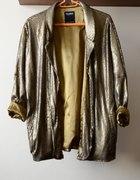 Złoty gold blazer Pull&Bear