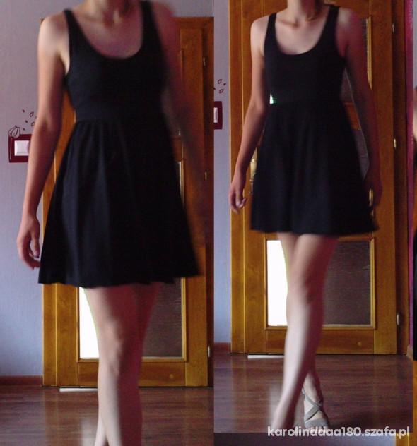 Suknie i sukienki sukienka rozkloszowana czarna ASOS