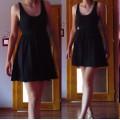 sukienka rozkloszowana czarna ASOS