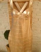 RIVER ISLAND ROSE GOLD DRESS...