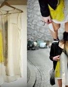 szyfonowa sukienka tunika H&M Trend mgielka