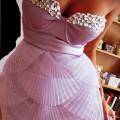 PUDROWA cudna sukienka