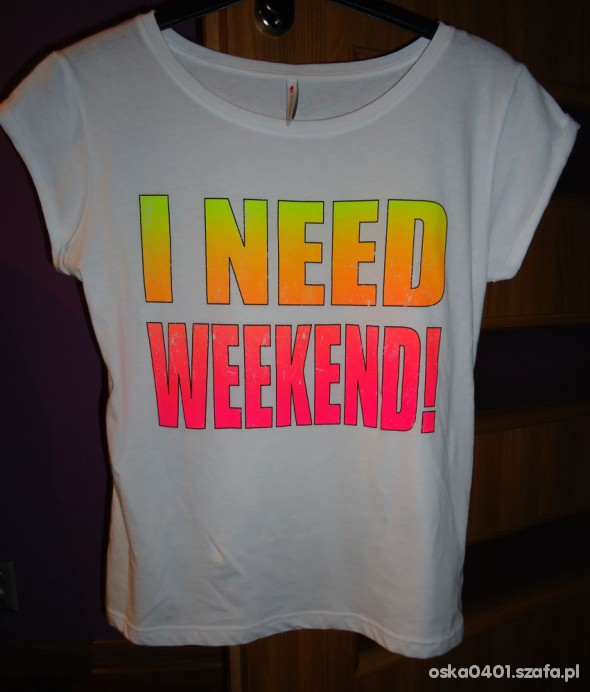 I NEED WEEKEND NOWY T SHIRT NEW YORKER