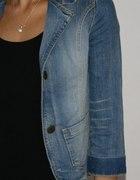 Jeansowy Żakiet XS S