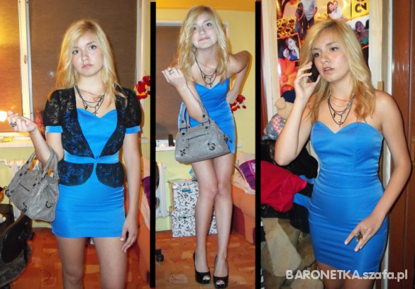 Imprezowe Gina niebieska