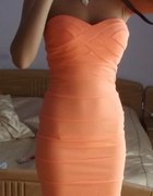 Tally Weijl sukienka bandage brzoskwiniowa