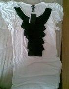 Cienka bawełniana bluzka z żabotem