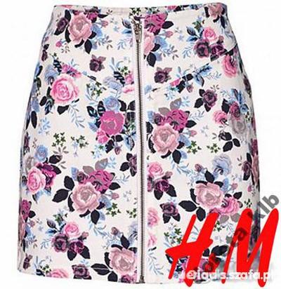 Ubrania floral zip h&m