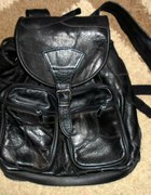 plecak czarny skórzany