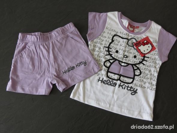 Komplety Hello Kitty koszulka spodenki 104