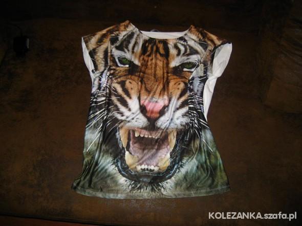 Obszerna bluzka z tygrysem 42 40 44