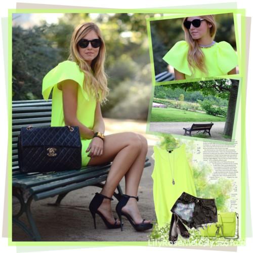 Neonowa sukienka ŚLICZNA