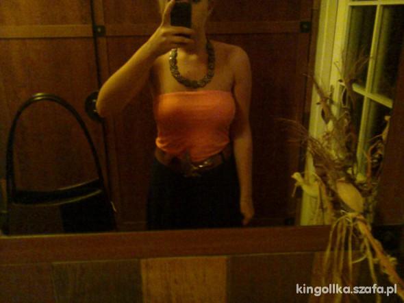 Eleganckie pomarańczowy top