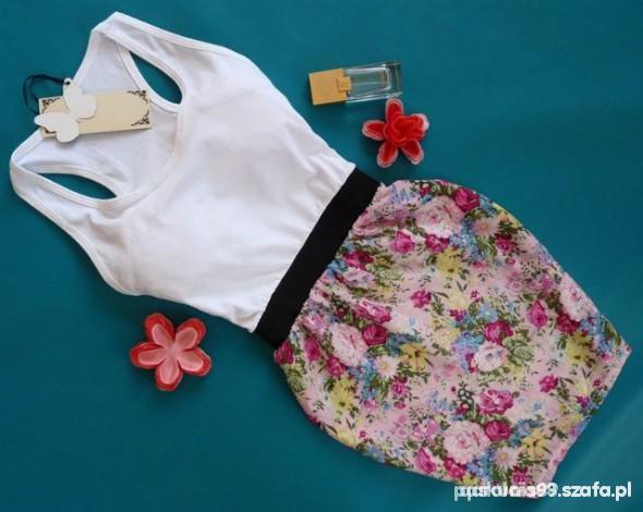 Suknie i sukienki Sukienka biało różowa