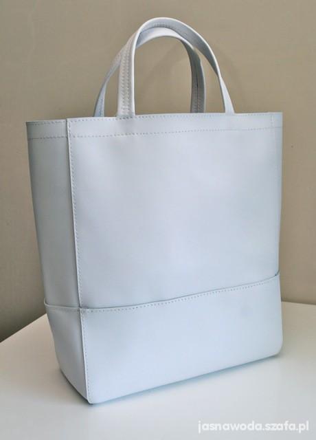 26f669566418c duża biała prosta minimalistyczna torba w Dodatki - Szafa.pl