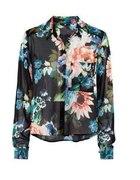 h&m koszula floral kwiaty transparentna