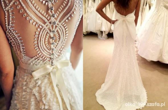 Na specjalne okazje Piękny tył sukni