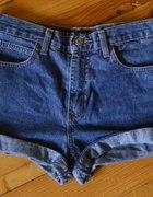 GUESS szorty jeansowe 36 S jeans wysoki stan