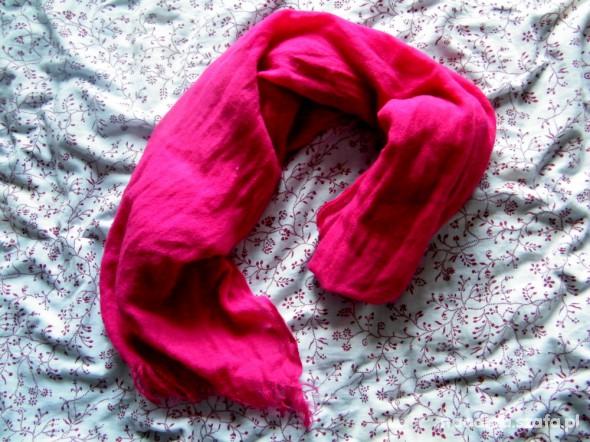 Chusty i apaszki różowa chusta
