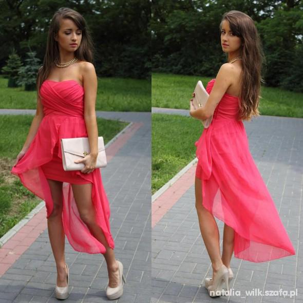 Na specjalne okazje sliczna asymetryczna sukienka
