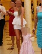biała sukienka z baskinką ZARA genialna