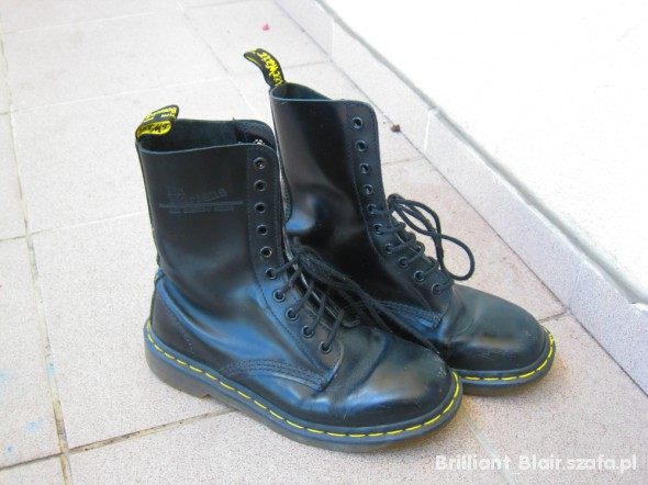 topowe marki najlepsze buty kupować nowe Dr Martens rozmiar 37 czarne 10 dziurek w Trapery - Szafa.pl