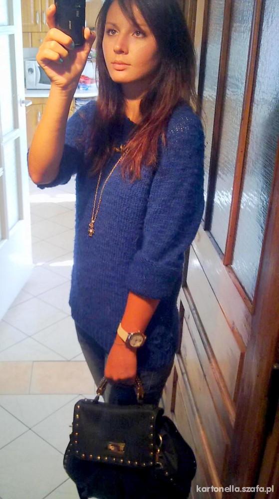 Mój styl kobaltowy sweterek