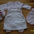 sukienka i pajacyk jesień zima komplet 03mce