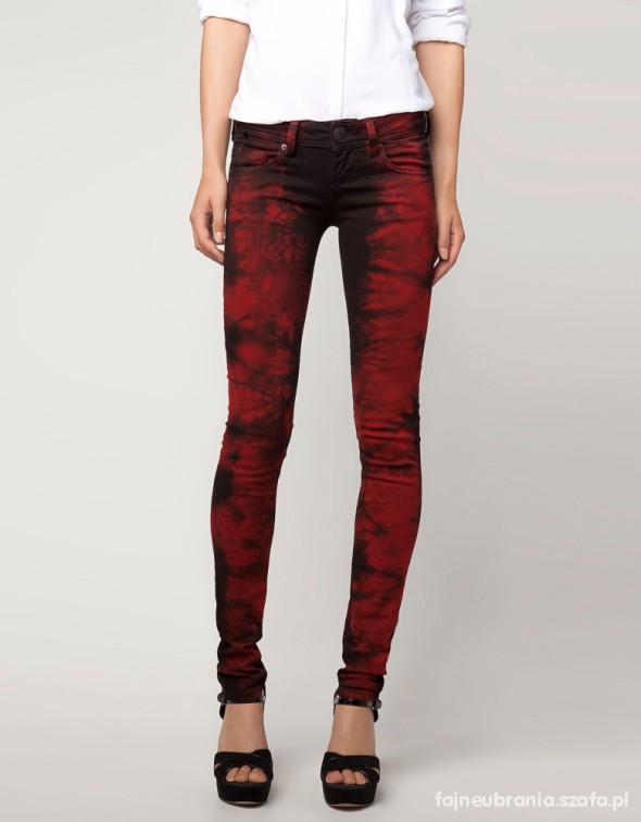 Spodnie Czerwono czarne