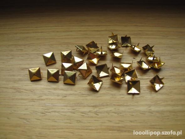 Pozostałe Złote ĆWIEKI PIRAMIDKI 9mm