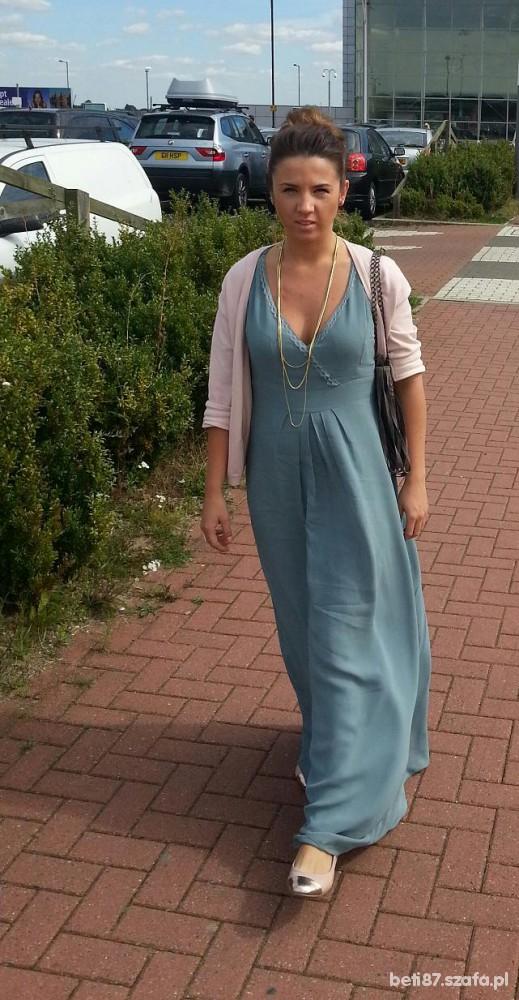 Mój styl Mięta Róż sukienka maxi