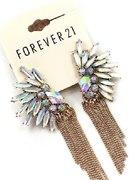 Kolczyki Skrzydła Anioła Kryształy Forever 21