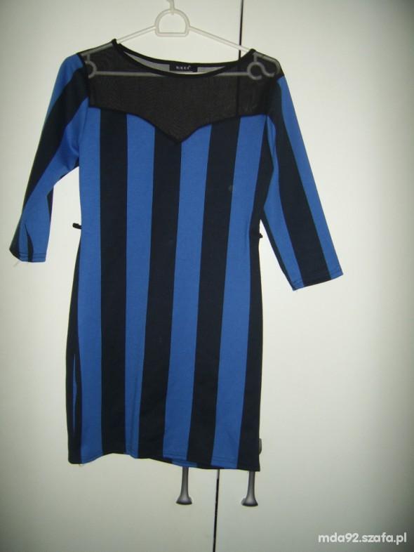 Suknie i sukienki Sukienka w pasy siateczka