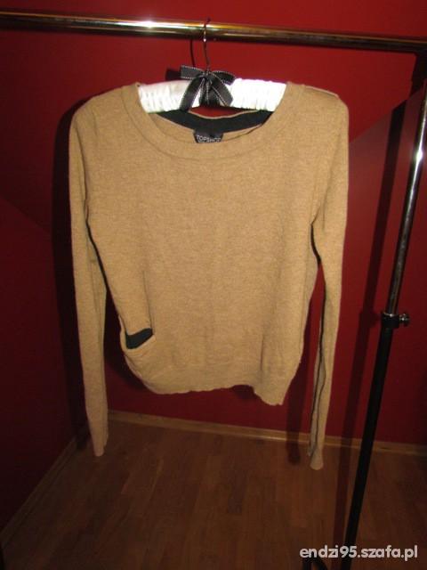 Swetry karmelowy sweterek TopShop