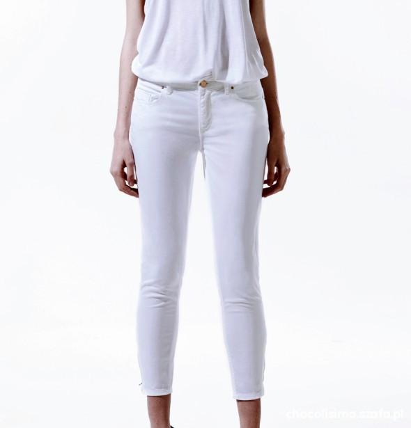 Spodnie białe spodnie z metkami zara