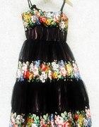 Sukienka haute couture cudo z jedwabiu i koronki