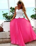 Neonowa Maxi spódnica