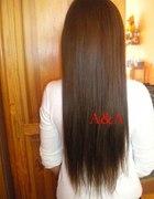 Brązowe przedłużane 3 tasmy włosy clip in