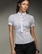 Biała bluzeczka z kokardkami