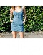 sukienka jeansowa HM