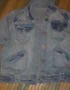 kurtka jeansowa jasna 36