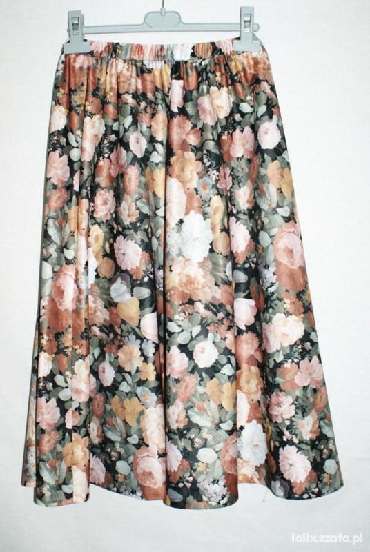 spódnica maxi floral