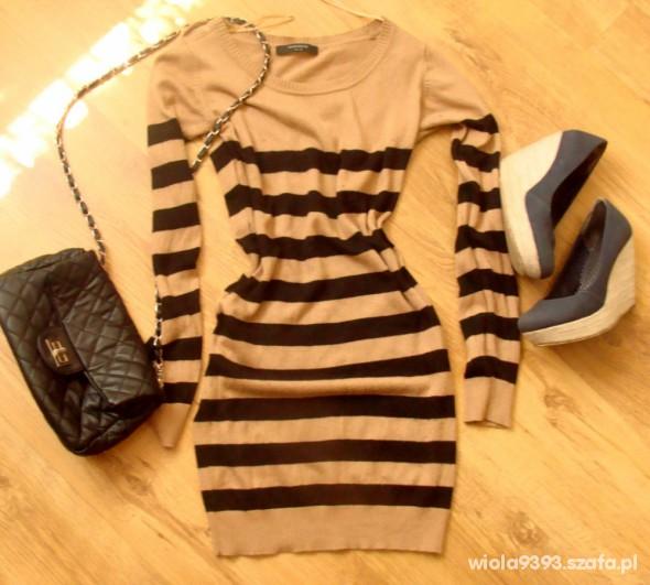 Długi sweter tunika RESERVED rozmiar M L