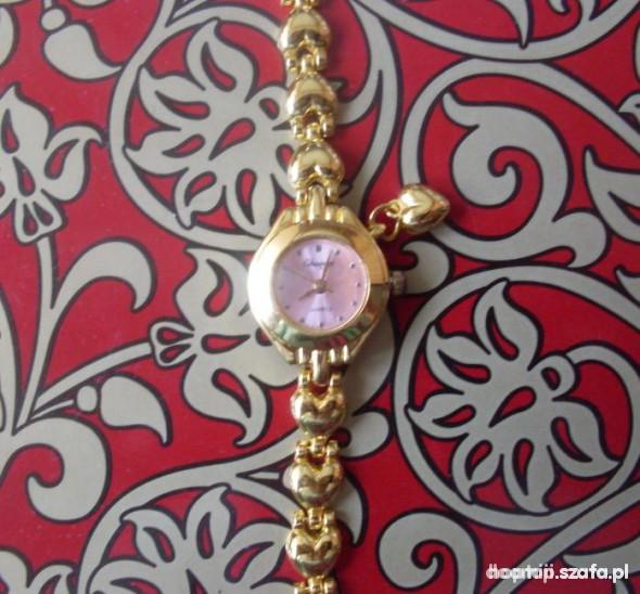 zegarek serca złoty