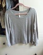 bluza oversize zara szara łaty