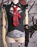 Punk rave top z krawatem...