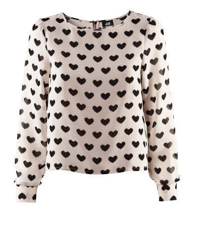 Koszula w serduszka H&M