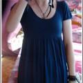 Sukienka h&m granatowa TANIO