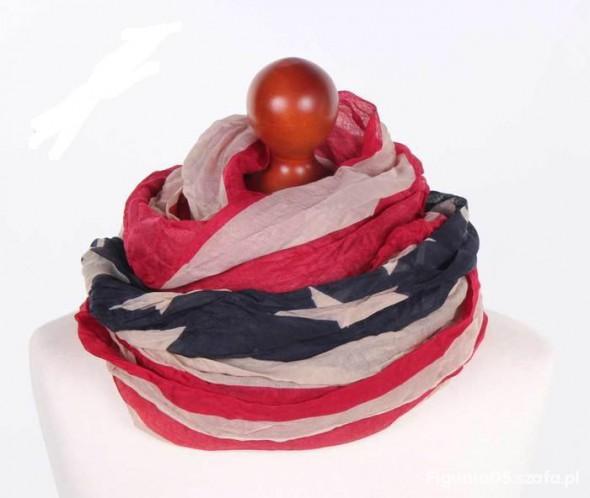 Chusty i apaszki Chusta Flaga Ameryki