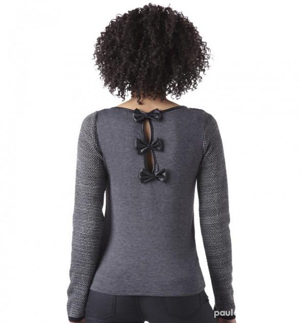Sweter z kokardkami...